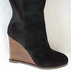 0fe824cdb87 Vince Camuto Shoes - Vince Camuto Granta Tall Wedge Boots Black 6M NEW